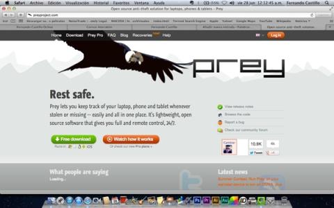 Captura de pantalla de Preyproject